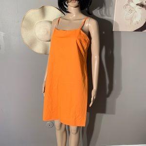 Michael Kors Size 10 Orange Fittes Dress Length 35